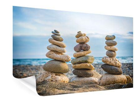 Poster Drei Steinstapel