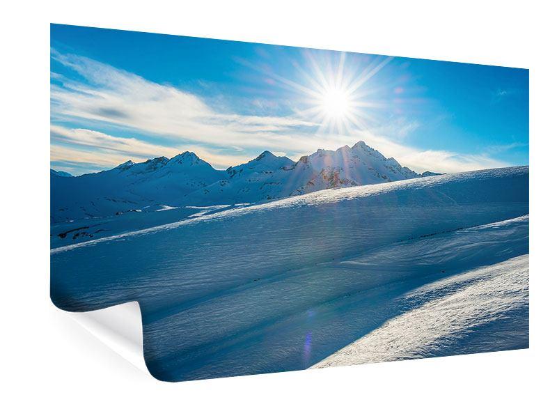 Poster Ein Wintermärchen in den Bergen