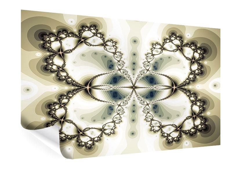 Poster Abstrakter Schmetterling