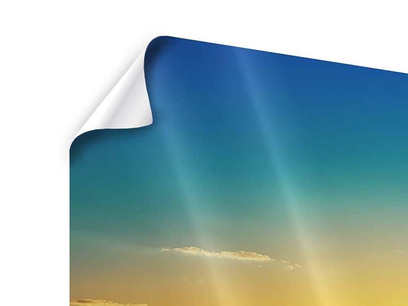 Poster Das Meer im Sonnenuntergang