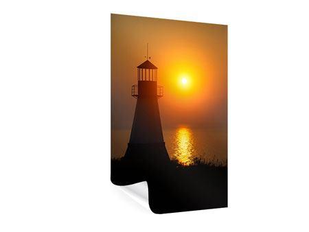 Poster Ein Leuchtturm bei Sonnenuntergang