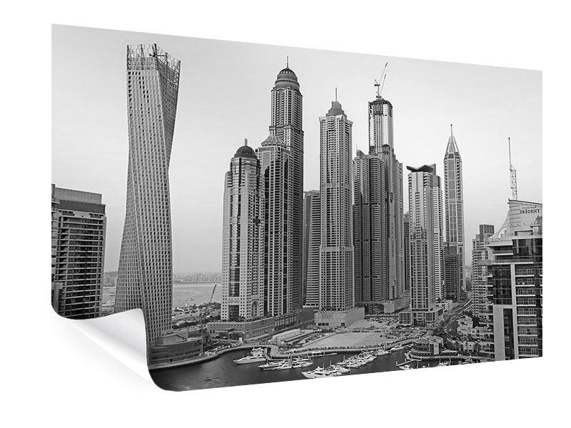 Poster Majestätische Wolkenkratzer in Dubai