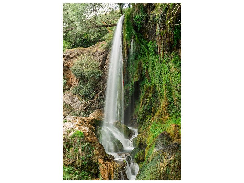 Poster Klarer Wasserfall