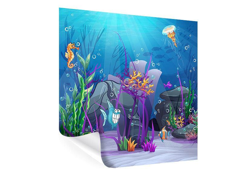 Poster Unterwasserschatzsuche