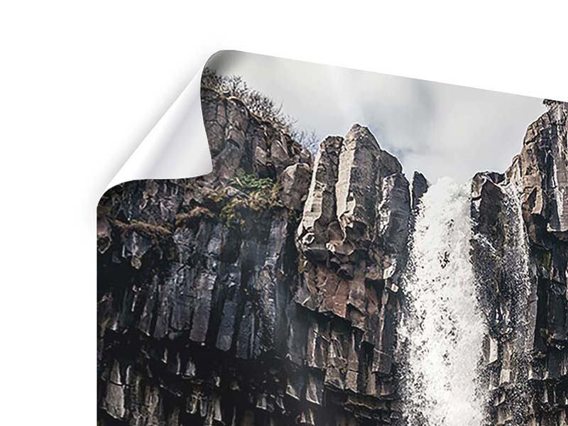 Poster Wasserfall Island