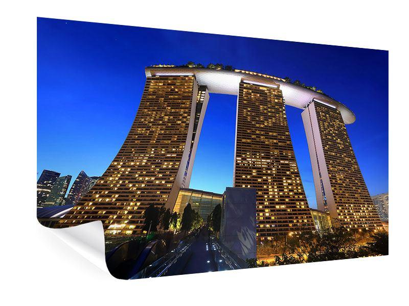 Poster Wolkenkratzer Singapur