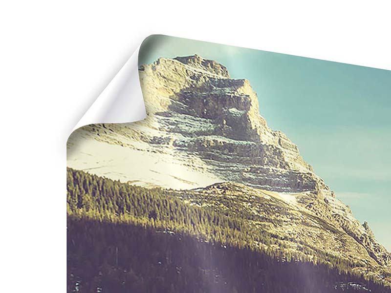 Poster Spiegelung im Bergsee