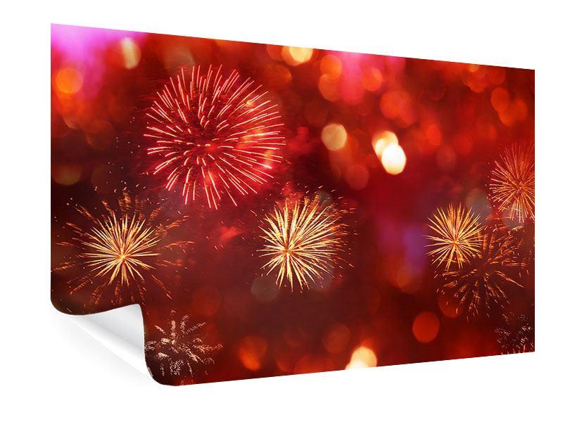 Poster Buntes Feuerwerk