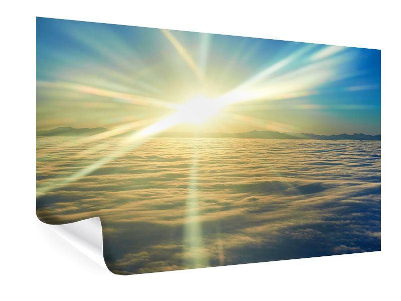 Poster Sonnenaufgang über den Wolken