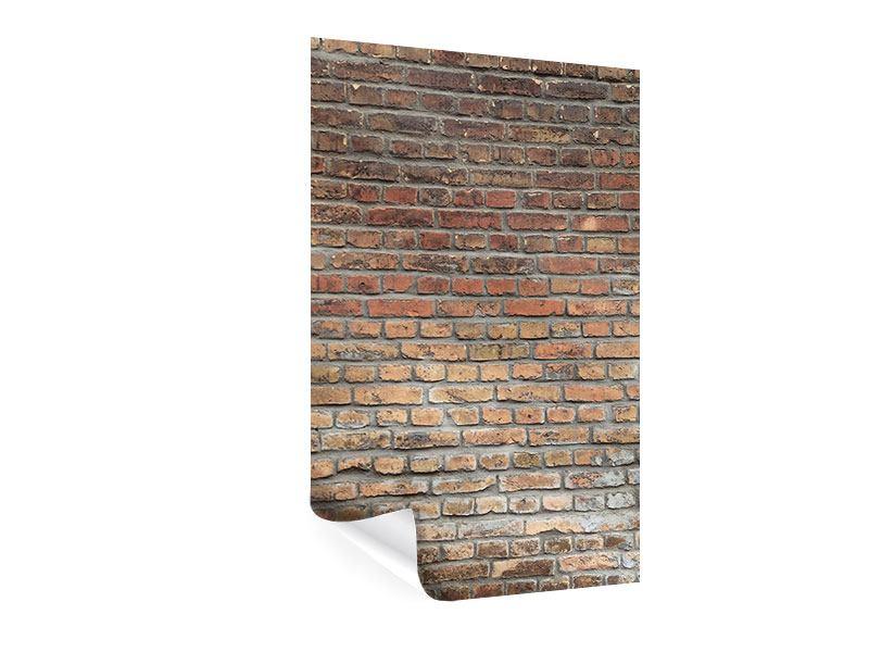 Poster Ziegelmauer