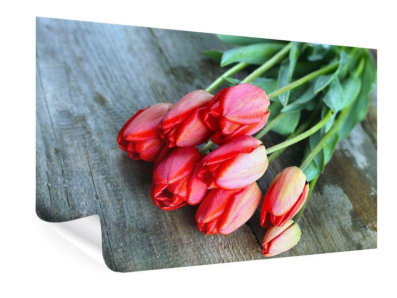 Poster Der rote Tulpenstrauss
