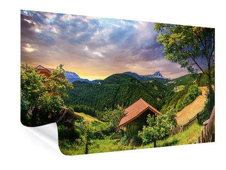Poster Schweizer Berge im Sommer