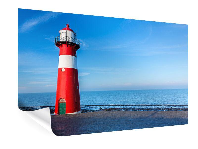 Poster Sommer beim Leuchtturm
