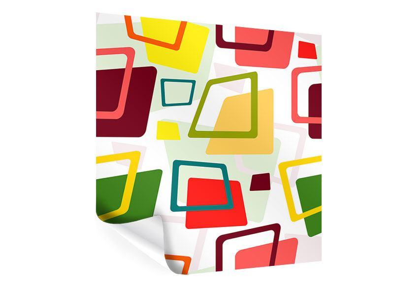 Poster Rechtecke im Retrodesign