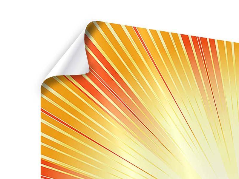 Poster Abstrakte Retro Sonne