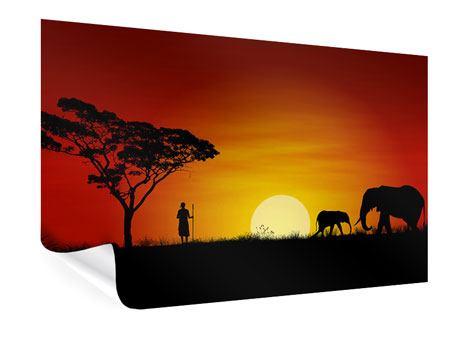 Poster Afrikanische Steppenelefanten