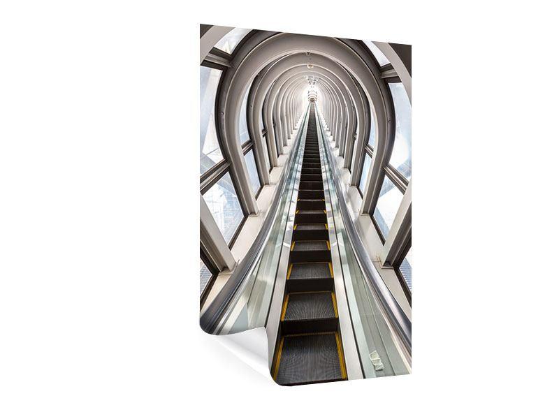 Poster Futuristische Rolltreppe