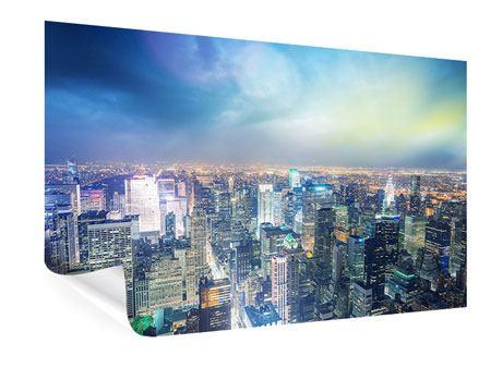 Poster Skyline NY bei Sonnenuntergang