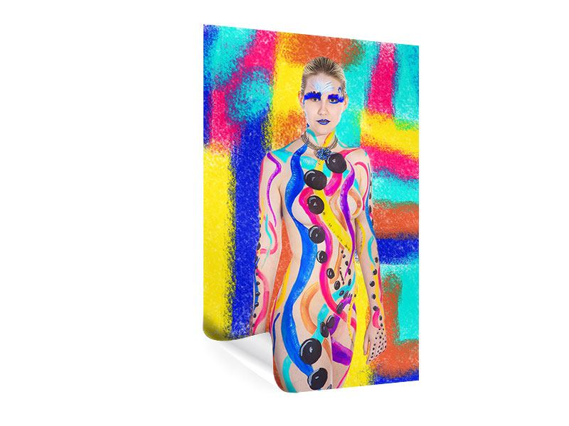 Poster Colorful Bodypainting