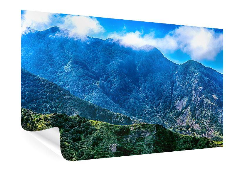 Poster Die Berglandschaft