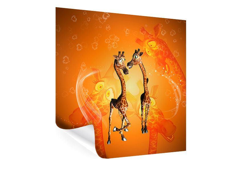 Poster Giraffen Kinder