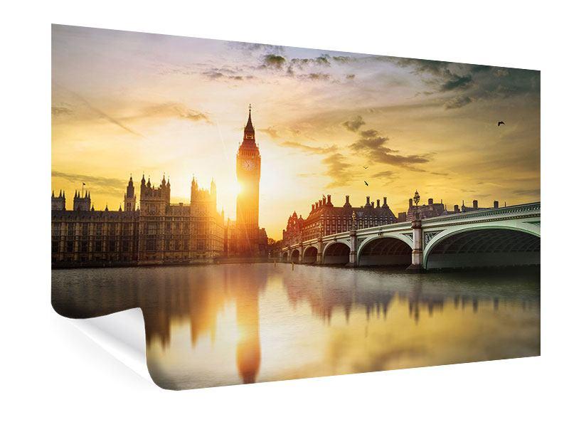 Poster Skyline Big Ben im Sonnenuntergang
