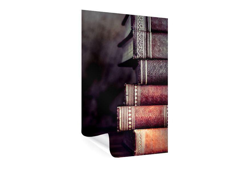 Poster Antike Buchstapel