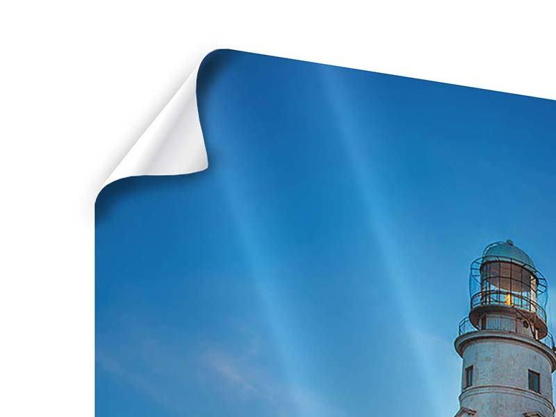 Poster Sonnenuntergang am Leuchtturm