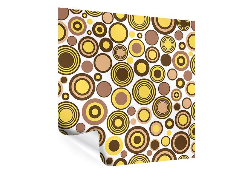 Poster Kreise im Retrodesign