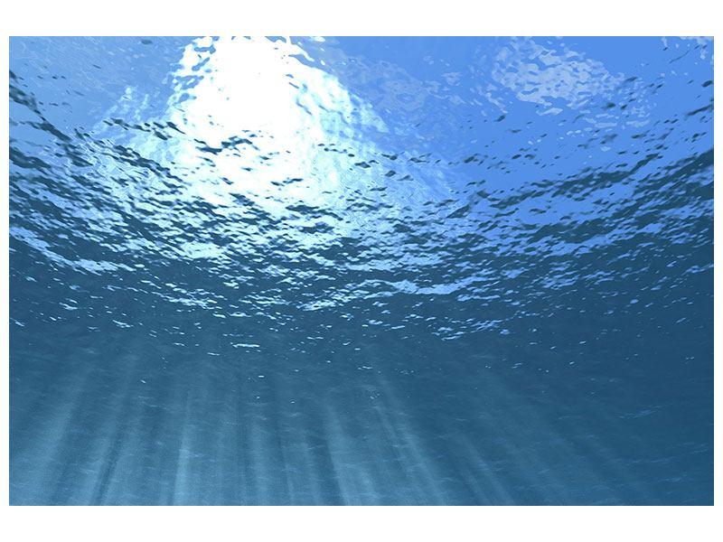 Poster Sonnenstrahlen unter Wasser