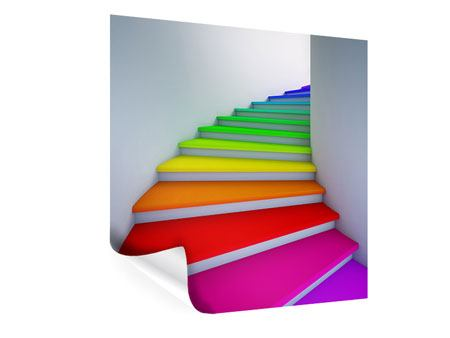 Poster Bunte Treppe