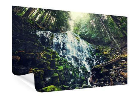Poster Feng Shui & Wasserfall
