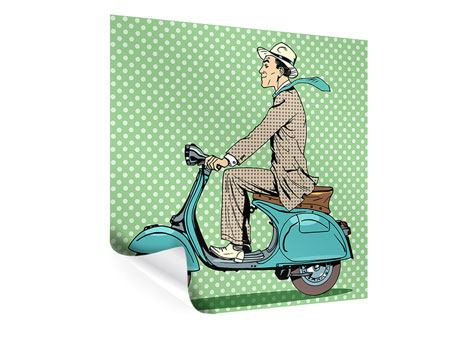 Poster Pop Art Vespafahrer