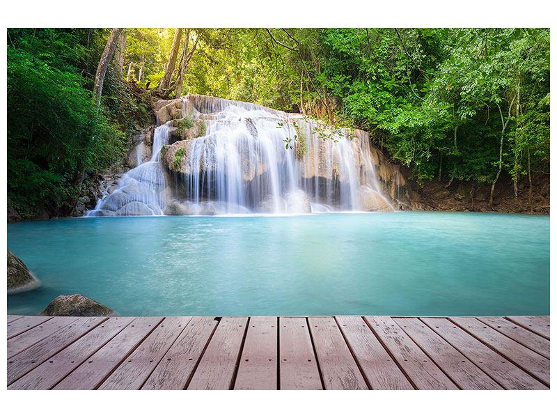 Poster Terrasse am Wasserfall