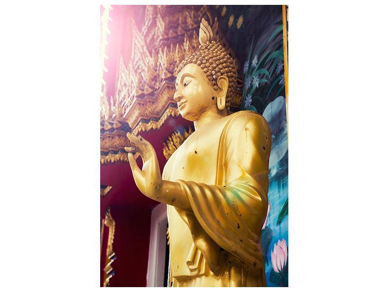 Poster Buddha Skulptur