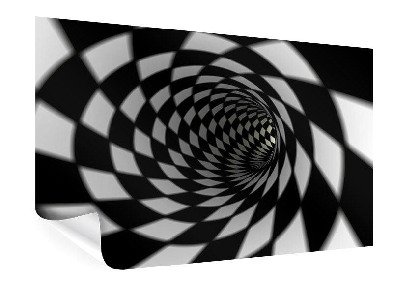 Poster Abstrakter Tunnel Black & White