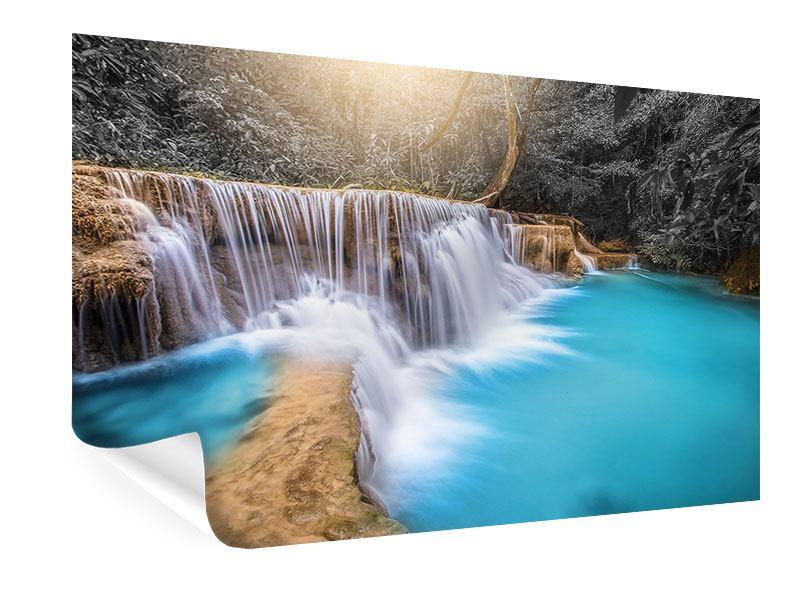 Poster Glücklicher Wasserfall
