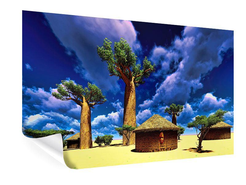 Poster Ein Dorf in Afrika