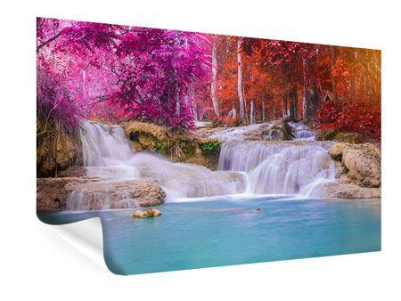Poster Paradiesischer Wasserfall