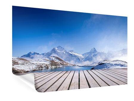 Poster Sonnenterrasse am Schweizer Bergsee
