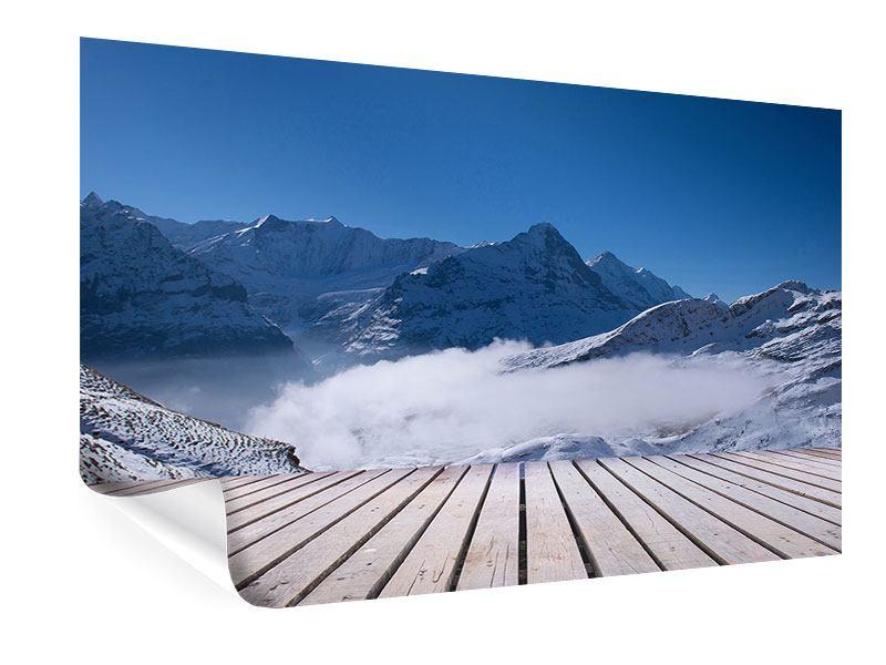 Poster Sonnenterrasse in den Schweizer Alpen