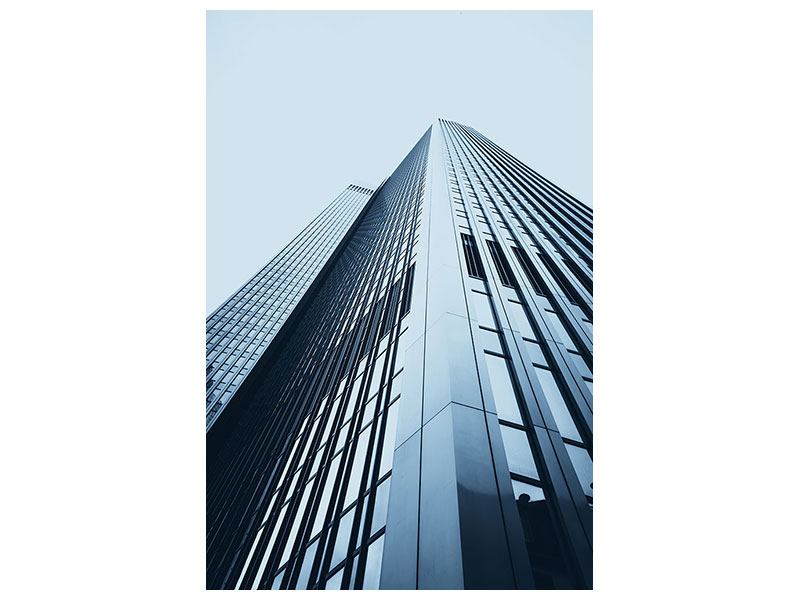 Poster Hochhaus-Anblick
