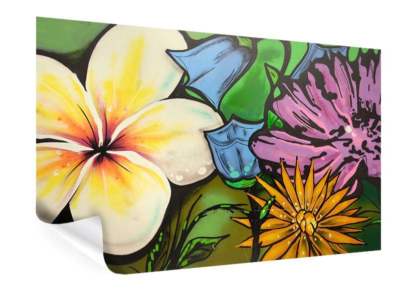 Poster Graffiti Flowers