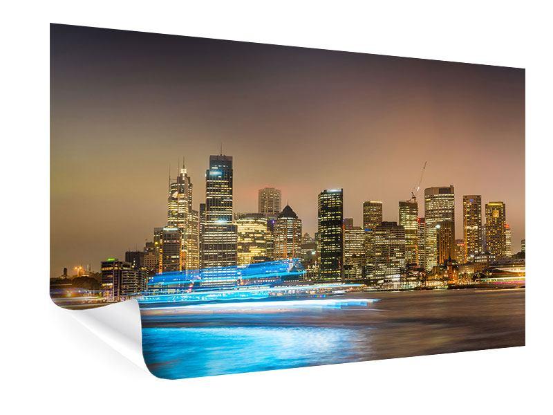 Poster Skyline Sydney im Lichtermeer