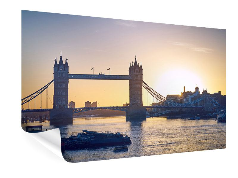 Poster Tower Bridge bei Sonnenuntergang