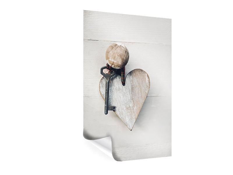 Poster Herzschlüssel