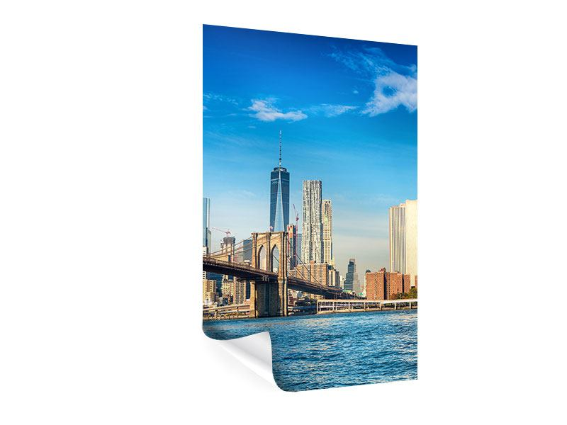 Poster Skyline New York and Brooklyn Bridge