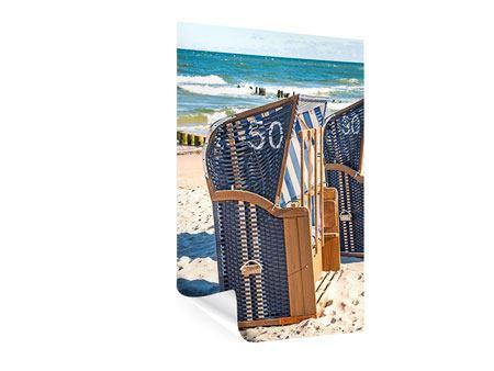 Poster Strandkorb