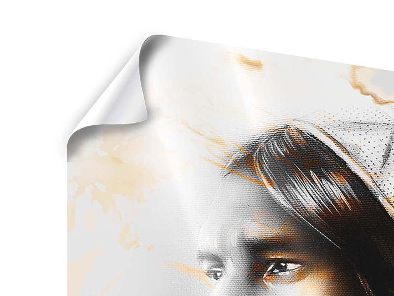 Poster Kunstvolles Indianer-Portrait