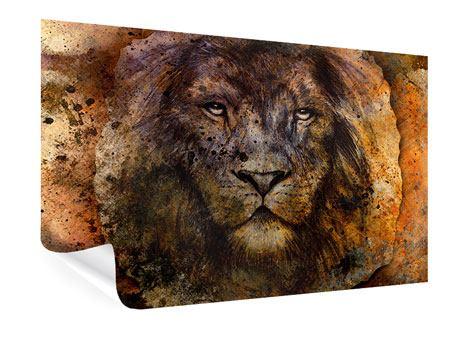 Poster Portrait eines Löwen